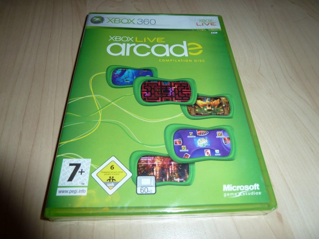 Inplastad Xbox Live Arcade - Fem arkadspel, bla. Pac-Man och UNO